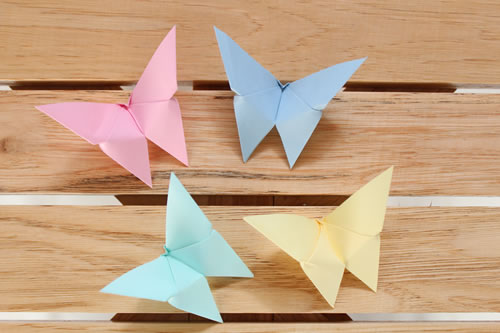 Origami mariposas de papel gu a de manualidades - Manualidades para adultos paso a paso ...