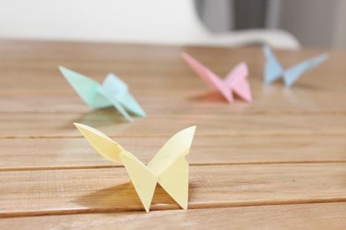 Origami: mariposas de papel   guía de manualidades