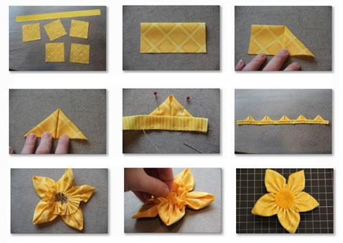 Aprende a hacer narcisos de tela Artículo Publicado el 26.06.2012 por