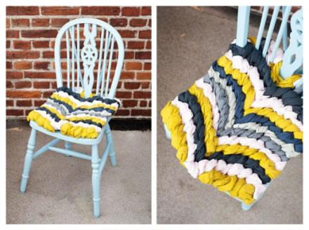 Coj n trenzado para sillas gu a de manualidades - Como hacer cojines para sillas ...