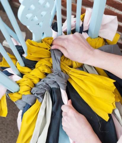 Cojín trenzado para sillas   Guía de MANUALIDADES
