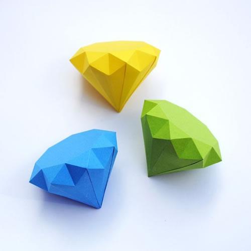 Como hacer diamantes de papel