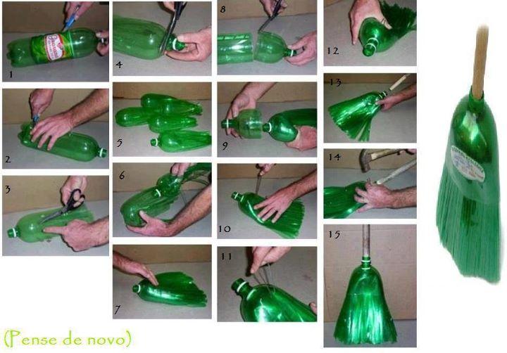 Escoba de juguete con botellas plásticas Artículo Publicado el 12.06