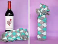 imagen Idea para envolver una botella de vino
