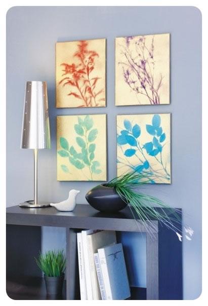 C mo hacer cuadros decorativos con plantas gu a de - Cuadros para pintar en casa ...