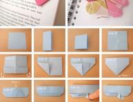 imagen Origami: señalador corazón para libro