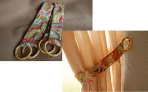 Sencillo sujeta cortinas gu a de manualidades for Argollas con pinzas para cortinas