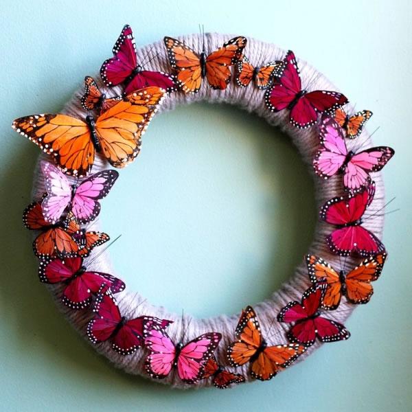 corona facil con mariposas