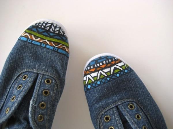 zapatos y zapatillas pintadas