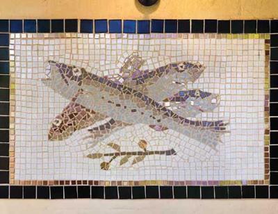 Mosaico con peces 1