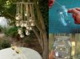 imagen Móvil romántico con frascos de vidrio