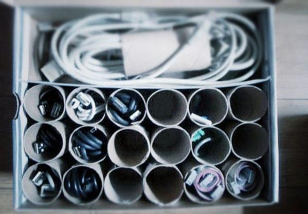 organizador de cables reciclado 1