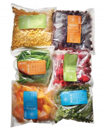 idea para organizar la comida en el congelador