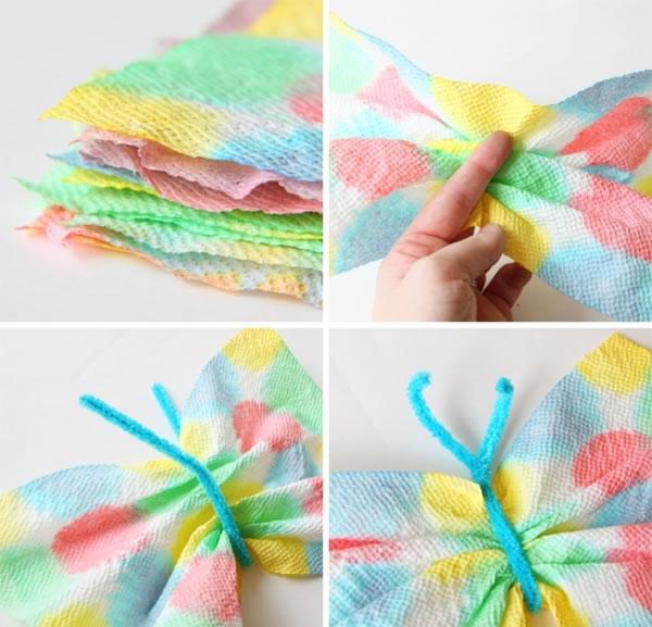 Coloridas mariposas de papel para jugar 5