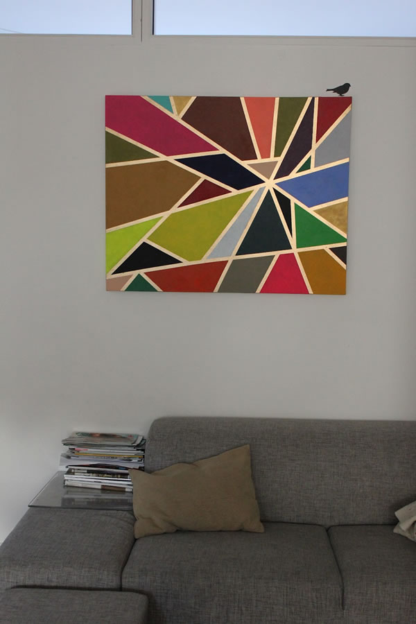 Cuadro geom trico para decorar la sala gu a de manualidades for Cuadros modernos para decorar cocinas