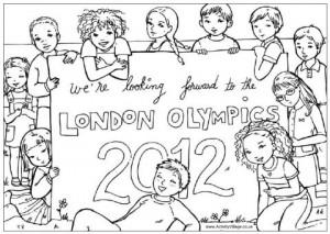 dibujos para pintar de Londres 2012 7