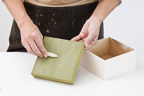 caja para el té con la técnica del decoupage 2