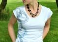 imagen Camiseta decorada con blondas