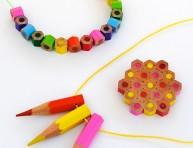 imagen Colgantes con lápices de colores