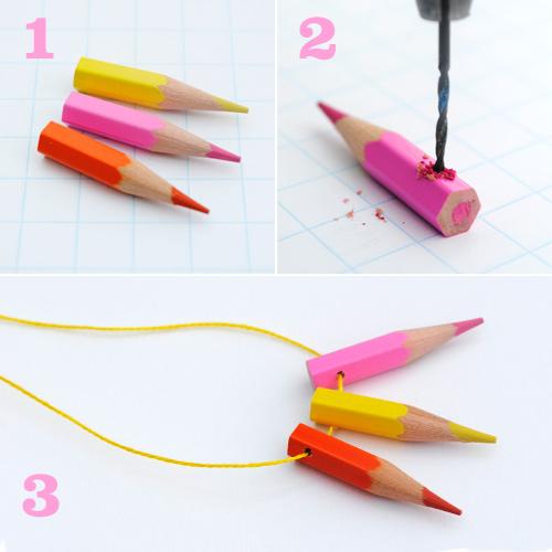 Bijouterie con lápices de colores 2