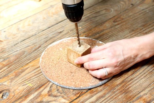 Collar con bloques de madera y efecto ombre gu a de - Como lijar madera ...