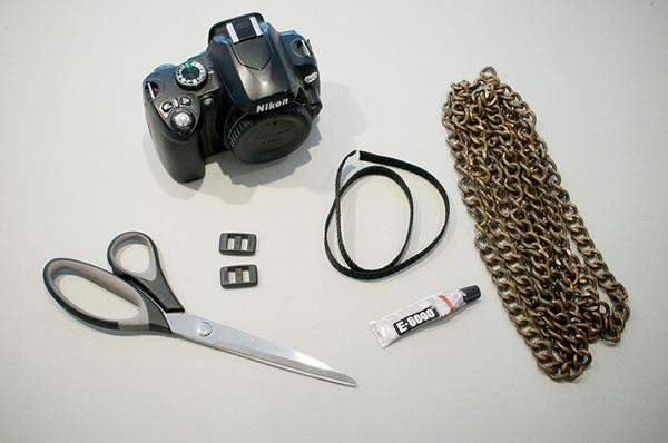 Correa de cámara personalizada - materiales