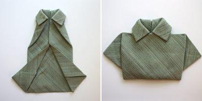 Dobla servilletas como camisetas gu a de manualidades - Origami con servilletas ...