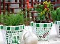 imagen Macetas decoradas con mosaico