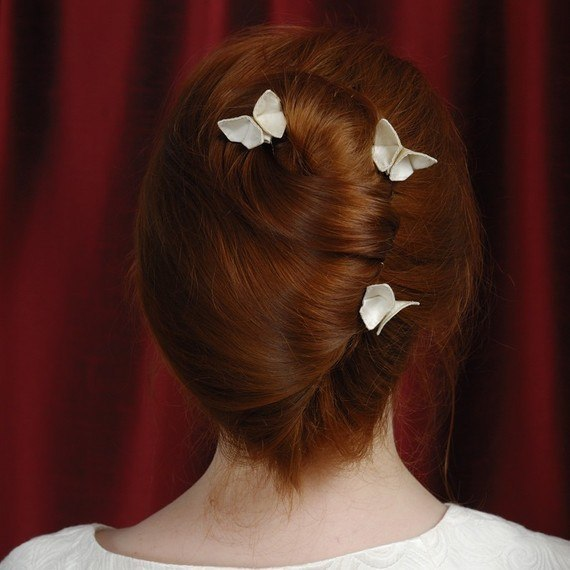 Mariposas de tela para el cabello 6