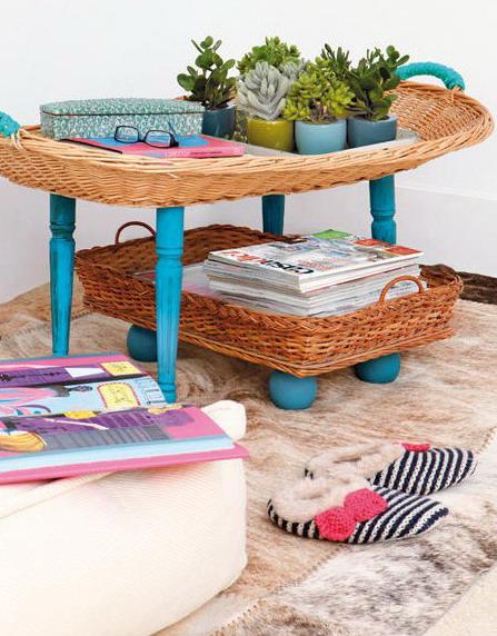 Mesa de living con bandejas