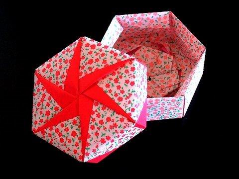 Origami: caja hexagonal paso a paso