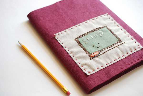 Forro de fieltro para cuadernos - Guía de MANUALIDADES