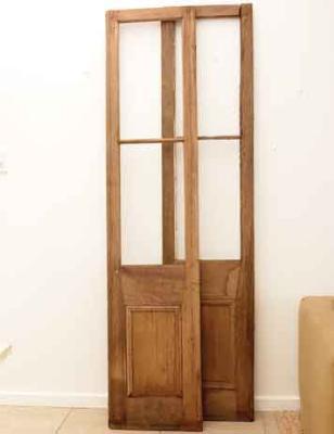 Cabecero de cama hecho con una puerta 2