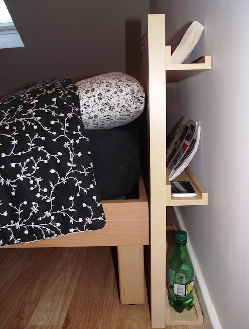 Cabecero de cama con complementos gu a de manualidades - Cabecero con almacenaje ...