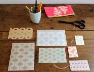 imagen Aprende a hacer estampados sobre papel