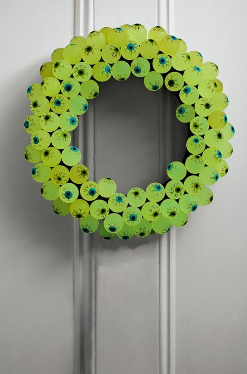 Eye Ball Halloween Wreath Decorations