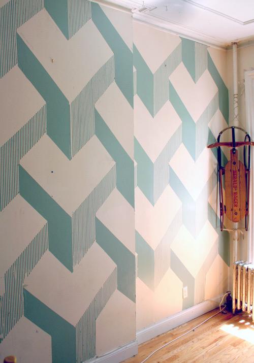 Pinta tus paredes en 3d gu a de manualidades for Paredes pintadas con disenos