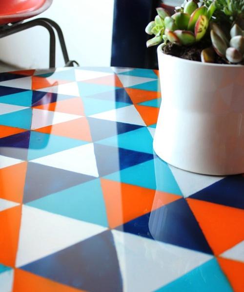Pinta una mesa de cristal 6