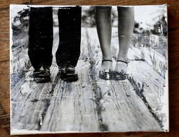 Cómo transferir fotografías a lienzo 3