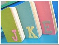 imagen Cuadernos con iniciales de fieltro
