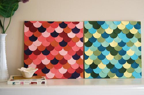 Haz un cuadro con círculos de color 6
