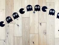 imagen Guirnalda de Pacman para halloween