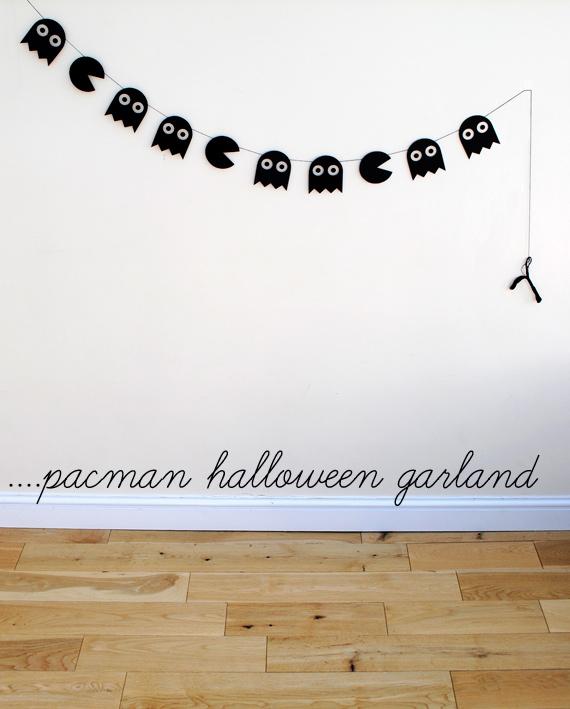 Guirnalda pacman para halloween