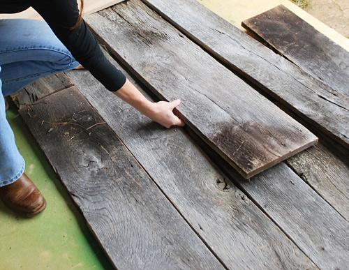 Cabecero con madera recuperada 2
