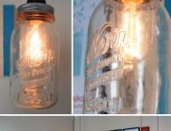imagen Cómo hacer una lámpara con un tarro de cristal