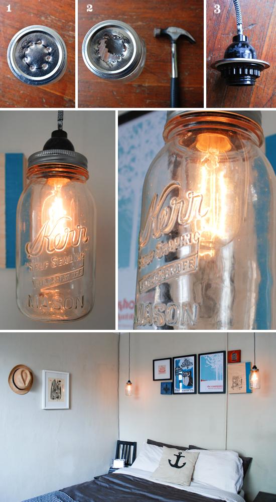 Lámpara con frasco de vidrio 2