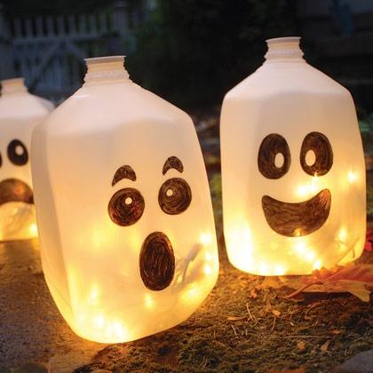 Lámparas fáciles para halloween