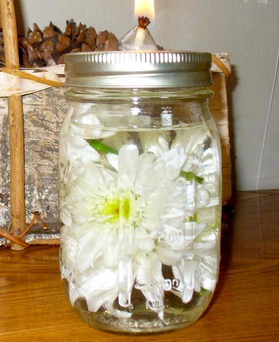 Lamparilla de aceite con decoración vegetal 4