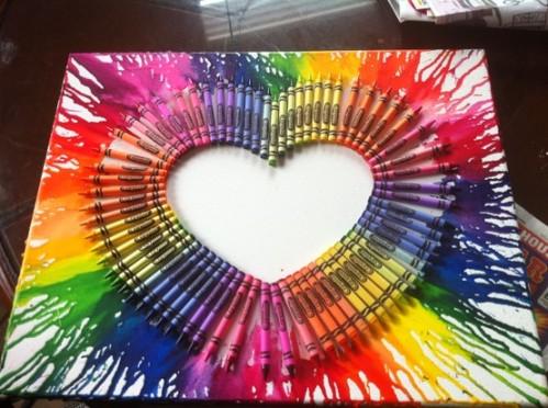 Lienzos con crayones 2