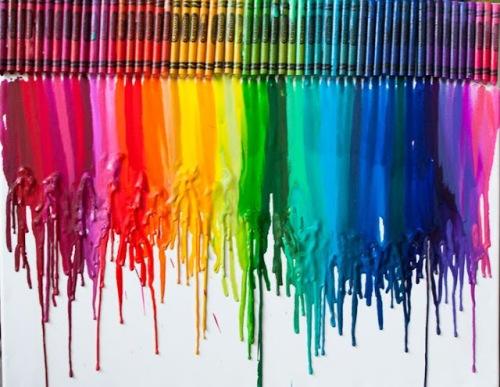 Lienzos con crayones 3